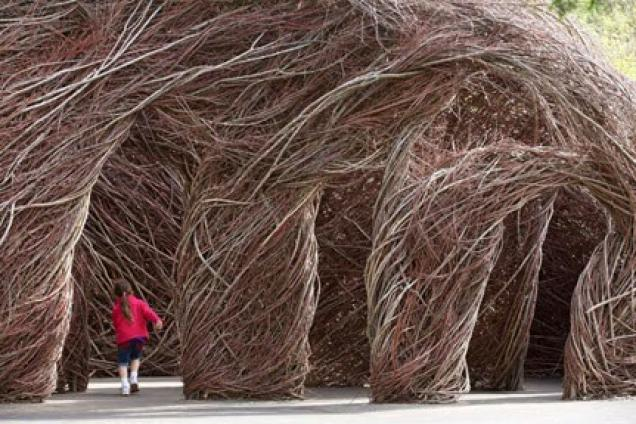 TWISTED: Patrick Dougherty Entwined at Mounts Botanical Garden