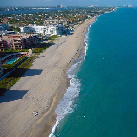 Aerial image of Palm Beach County beaches