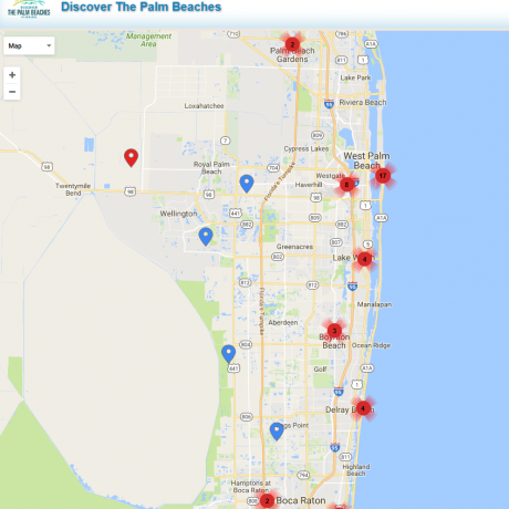 Florida Beaches Map | Maps of Palm Beach County