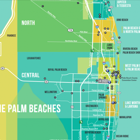 Downloadable Map of The Palm Beaches