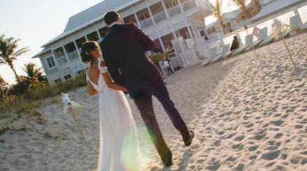 Outdoor wedding on the beach