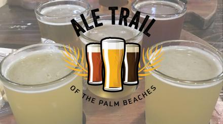 Bierflug mit Ale Trail des The Palm Beaches Logos