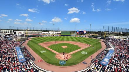 Baseballstadion von the Palm Beaches Spring Training Spiel