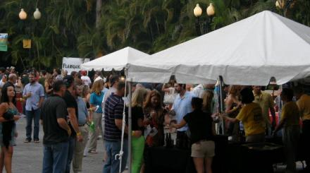 People sampling a wide selection of craft beers at the Palm Beach Zoo