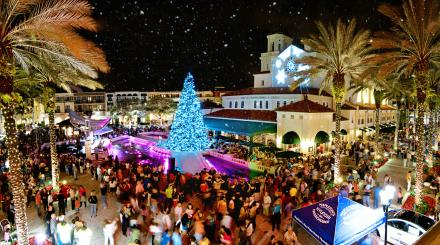 CityPlace snowfall celebration