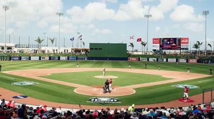 FITTEAM Ballpark of The Palm Beaches during a game
