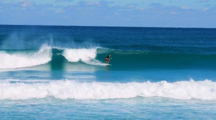 James Wieland surfs in The Palm Beaches