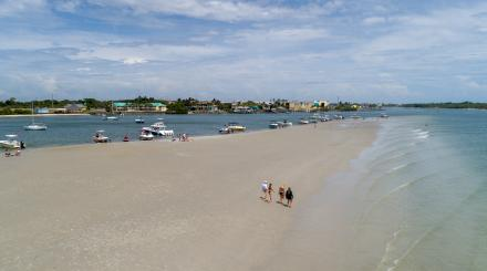 A view of a sandbar near the Jupiter Inlet