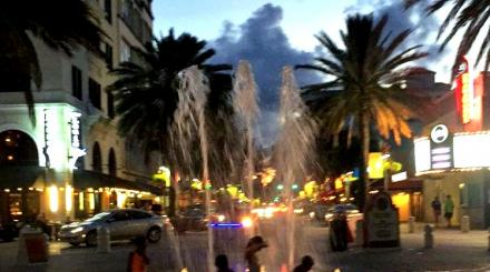 Kids playing in fountain, West Palm Beach
