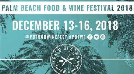 Logotipo Palm Beach alimentos vino 2018
