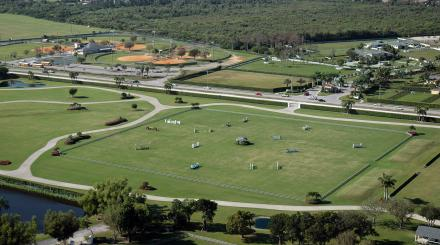 Aerial shot of the western part of The Palm Beaches