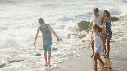 Family Playing in the Surf