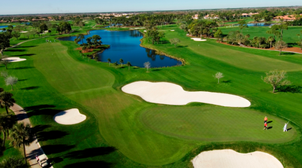 Aerial view of a gorgeous fairway