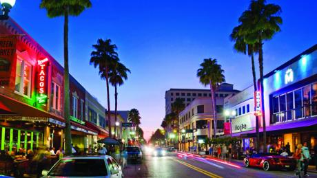 Clematis Street In Downtown West Palm Beach
